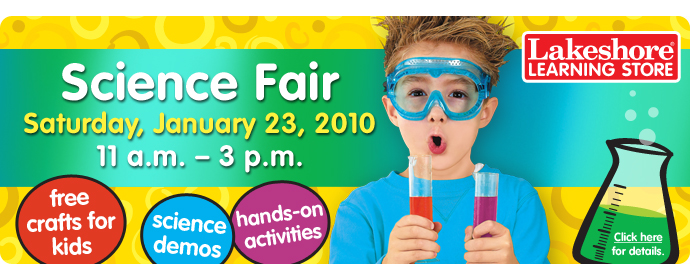 Join us for our free Science Fair - Saturday, January 23!
