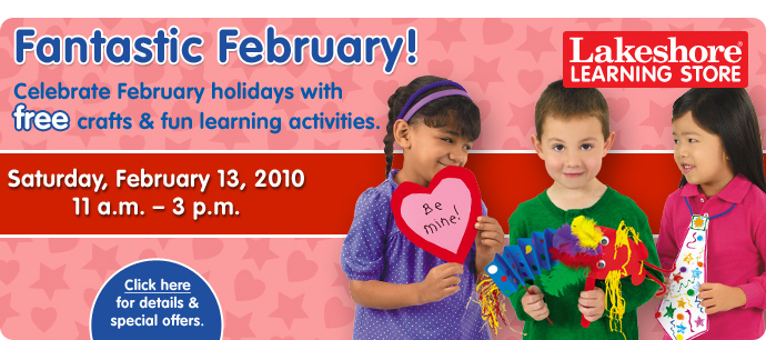Enjoy a Fantastic February...with free crafts and activities!