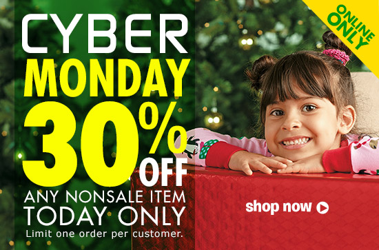 Enter code CYBERDEAL at checkout to save 30% on any single nonsale item.